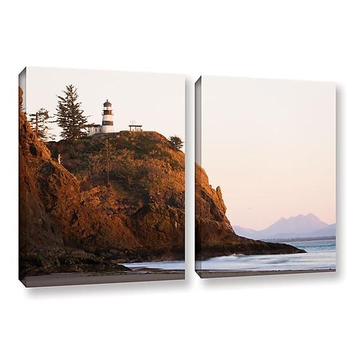 "ArtWall 'Lighthouse' 2-Piece Gallery-Wrapped Canvas Set 18"" x 28"" (0yor044b1828w)"
