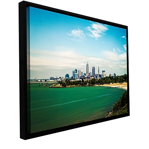 "ArtWall 'Cleveland 22' Gallery-Wrapped Canvas 24"" x 36"" Floater-Framed (0yor035a2436f)"