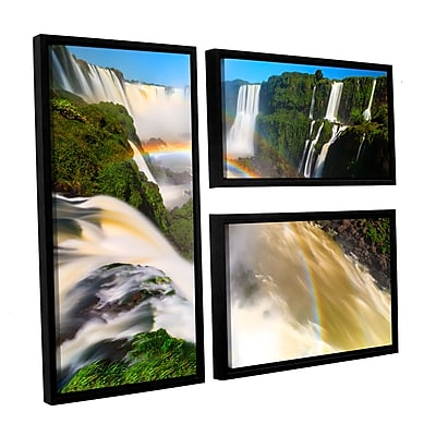 ArtWall 'Iguassu Falls 2' 3-Piece Canvas Flag Set 24