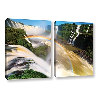 ArtWall 'Iguassu Falls 2' 2-Piece Gallery-Wrapped Canvas Set 18