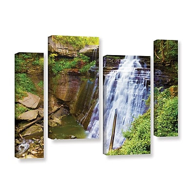 ArtWall 'Brandywine Falls 2' 4-Piece Gallery-Wrapped Canvas Staggered Set 36