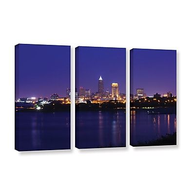 ArtWall 'Cleveland 18' 3-Piece Gallery-Wrapped Canvas Set 36