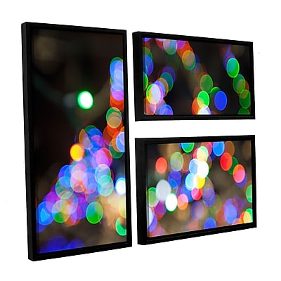 ArtWall 'Bokeh 1' 3-Piece Canvas Flag Set 24