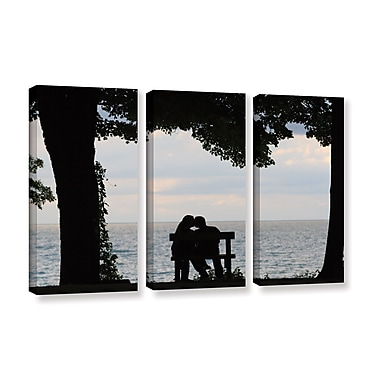 ArtWall 'Silhouette' 3-Piece Gallery-Wrapped Canvas Set 36