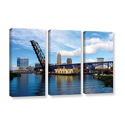ArtWall 'Cleveland 12' 3-Piece Gallery-Wrapped Canvas Set 36