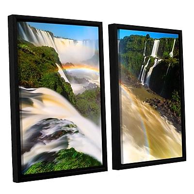 ArtWall 'Iguassu Falls 2' 2-Piece Canvas Set 32