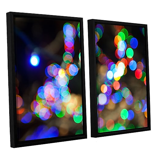 "ArtWall 'Bokeh 2' 2-Piece Canvas Set 32"" x 48"" Floater-Framed (0yor006b3248f)"