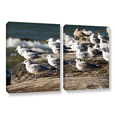 ArtWall 'Pigeons' 2-Piece Gallery-Wrapped Canvas Set 18