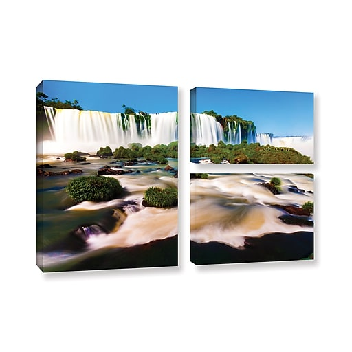 "ArtWall 'Brazil 2' 3-Piece Gallery-Wrapped Canvas Flag Set 24"" x 36"" (0yor010g2436w)"
