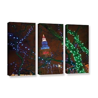 ArtWall 'Terminal Tower' 3-Piece Gallery-Wrapped Canvas Set 36