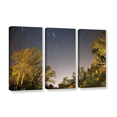 ArtWall 'Star Trails' 3-Piece Gallery-Wrapped Canvas Set 36