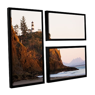 ArtWall 'Lighthouse' 3-Piece Floater Framed Canvas Flag Set 24