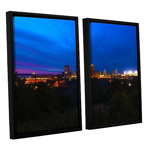 "ArtWall 'Cleveland 3' 2-Piece Canvas Set 32"" x 48"" Floater-Framed (0yor016b3248f)"