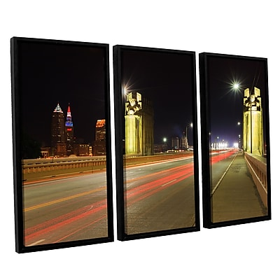 ArtWall 'Cleveland 7' 3-Piece Canvas Set 36