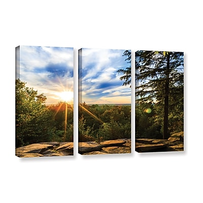 "ArtWall 'Virginia Kendall 2' 3-Piece Gallery-Wrapped Canvas Set 36"" x 54"" (0yor059c3654w)"