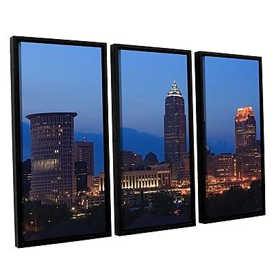 ArtWall 'Cleveland 17' 3-Piece Canvas Set 36