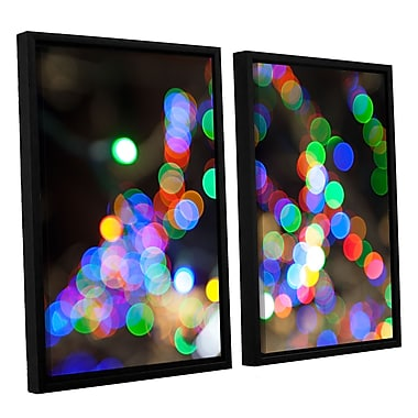 ArtWall 'Bokeh 1' 2-Piece Floater Framed Canvas Set 32