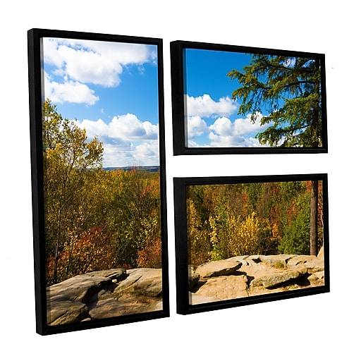 "ArtWall 'Virginia Kendall' 3-Piece Canvas Flag Set 24"" x 36"" Floater-Framed (0yor060g2436f)"