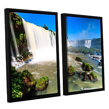 ArtWall 'Iguassu Falls 3' 2-Piece Canvas Set 32
