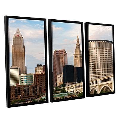ArtWall 'Cleveland 3-Piece Canvas Set 9' 36