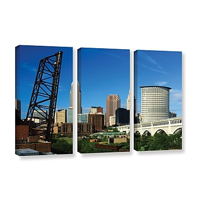 ArtWall 'Cleveland 13' 3-Piece Gallery-Wrapped Canvas Set 36