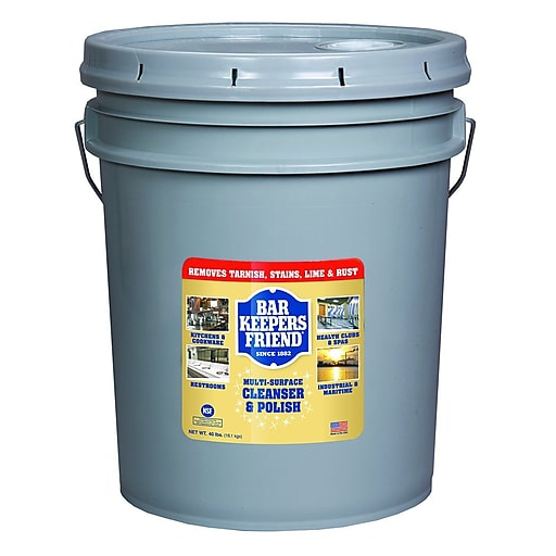 Bar Keepers Friend Powdered Cleanser And Polish, 40 Lb Pail