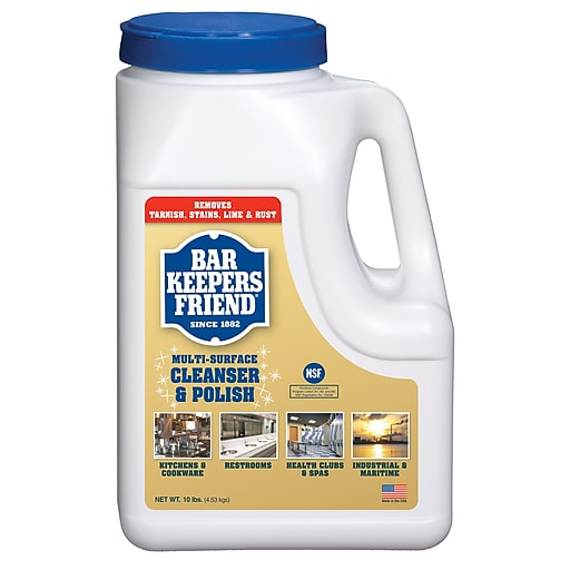 Bar Keepers Friend Powdered Cleanser And Polish, 10 Lb Box, 4/carton