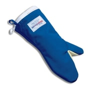 "Tucker 15"" Blue Nomex Conventional Style Oven Mitt With Removable Liner"