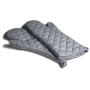 KGB Marketing Quilted Oven Mitts, Silver