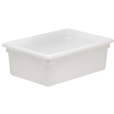 Cambro 12186P148 3 Gallon Polycarbonate Food Storage Box, White