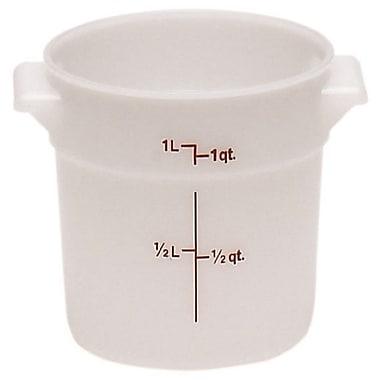 Cambro – Contenant de rangement rond en polyéthylène RFS1-148, 1 litre, blanc, 12/paquet