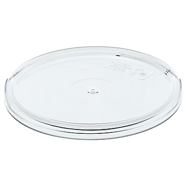 Cambro RFSCWC1-135 Camwear Round Cover, Clear, 1 Quart, White, 12/Pack