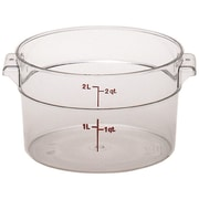 Cambro RFSCW2-135 Camwear Round Storage Container, 2 Quart, Clear, 12/Pack