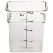 Cambro 4SFSCW-135 Square Food Storage Container 4 Quart, 6/Pack