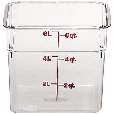 Cambro – Bac de rangement carré alimentaire 6SFSCW-135 de 6 pintes, 6/paquet