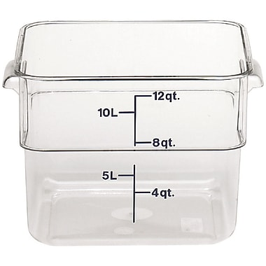 Cambro 12SFSCW-135 Square Food Storage Container 12 Quart, 6/Pack