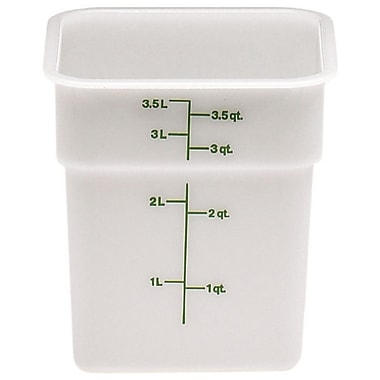 Cambro 4SFSP-148 Square Poly Food Storage Container 4 Quart, 6/Pack