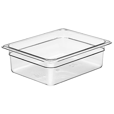 Cambro 26CW135 Gastronorm Half Size Pan, Clear, 6