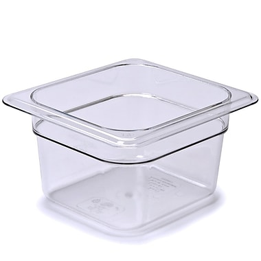 Cambro 62CW135 Gastronorm Sixth Size Pan, Clear, 2-1/2