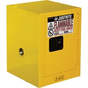 "Justrite® Countertop and Compac Sure-Grip® Ex Safety Cabinets, 1 Door, Countertop, 4 Gal, 17"" x 17"" x 22"""