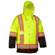 Forcefield – Parkas cargo de sécurité, vert lime avec garniture noire