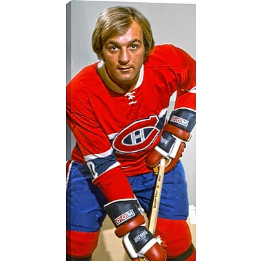 Lafleur G Unsigned HHOF Canvas, Canadiens Posed Close-Up-V, 14