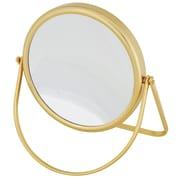 "Frasco Polished Brass Beauty Mirror 7x Magnification 6.75"" x 7"" (FRA-65830)"