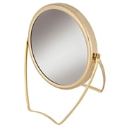 "Frasco Polished Brass Beauty Mirror 7x Magnification 4.5"" x 6.5"" (FRA-65895)"