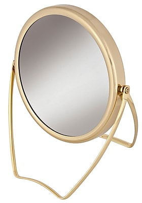 Frasco Polished Brass Beauty Mirror 7x Magnification 4.5