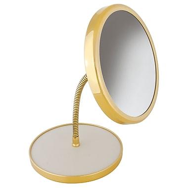 Frasco Polished Brass Beauty Mirror 5x Magnification 13.75