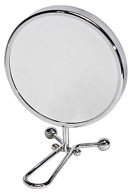 "Naturally by Kingsley 10x Magnification Polished Chrome Beauty Mirror 11.25"" x 6"" (M-101)"