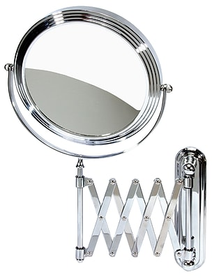 Naturally by Kingsley Polished Chrome Beauty Mirror 10x Magnification 14.5