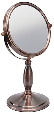 """Naturally by Kingsley 10x Magnification Polished Beauty Mirror 13"""" x 8"""", Chrome (M-108)"""