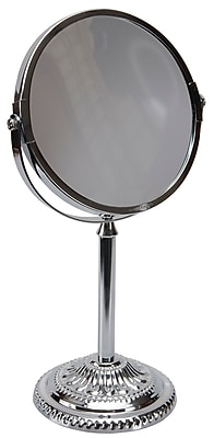 Naturally by Kingsley Polished Chrome Mirror 10x Magnification 12
